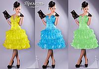 Короткое платье в рюшах с блестками Прелесть