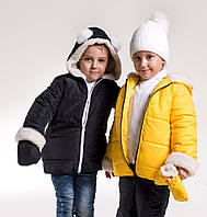 Детская Зимняя Куртка с варежками