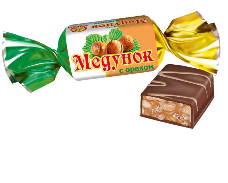"""Конфеты Славянка """"Медунок с орехом"""""""