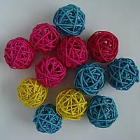 Набор шариков из ротанга