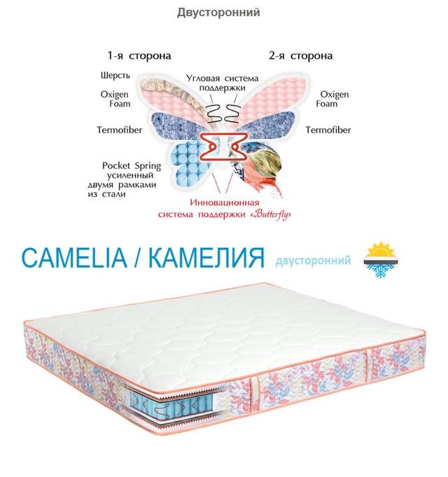 Матрас Камелия (Camelia) двусторонний пружинный блок Бонель 22 см