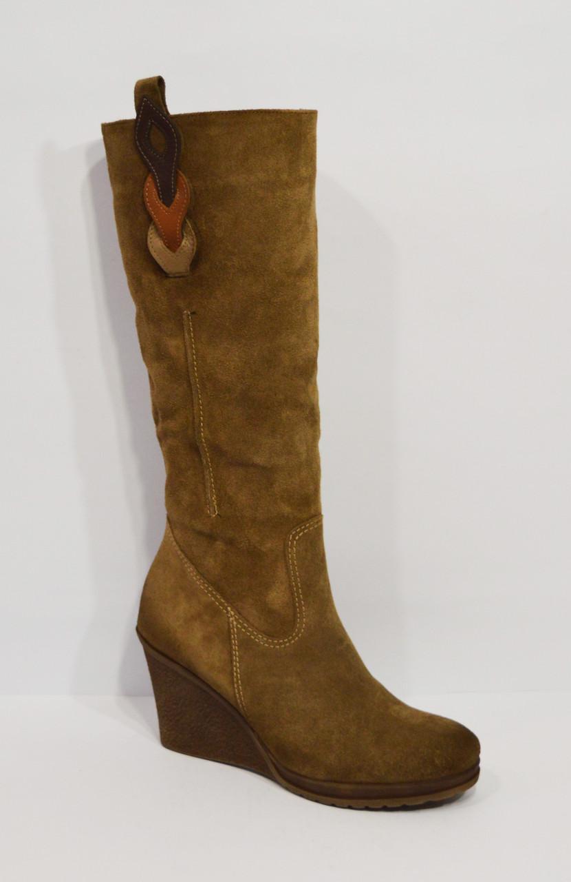 Замшевые коричневые сапоги Sensa 1125