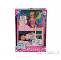 Кукольный набор Эви с двуспальной кроватью Steffi Evi Love 5733847