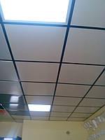 Плита подвесного потолка пластиковая белая 600х600
