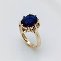 Кольцо с большим камнем,синий, размер 16, 17, 18, 19