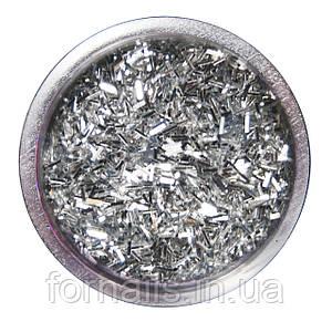Соломка для дизайна, серебро