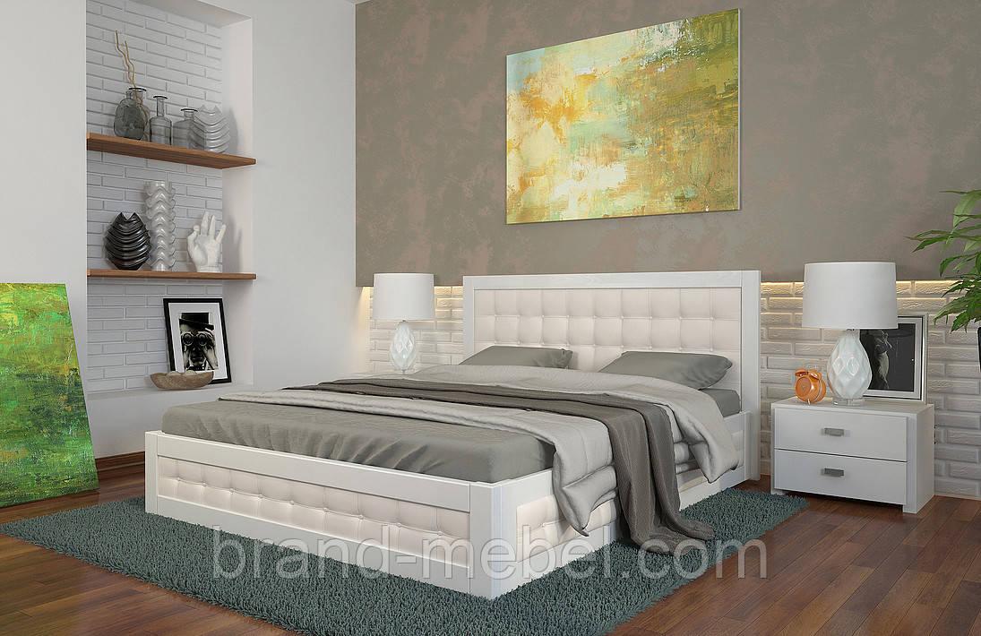 Ліжко дерев'яне двоспальне Рената М / Кровать деревянная двуспальная Рената М
