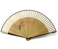 Веер бамбуковый с шелком Веточка сакуры