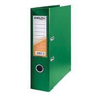 Папка-регистратор Delta двухст. PP 7,5 см, собранная, зеленая
