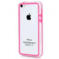 Бампер для iPhone 5С розовый