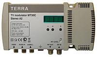 Модулятор телевизионный  Terra MT-30C (МВ-ДМВ, стерео А2, канал-в-канал)