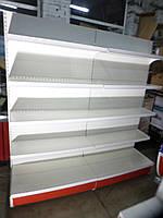 Стеллаж пристенный торговый б/у 6,8 м., торговие металлические стеллажи б у., фото 1