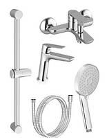 Набор смесителей для ванны 5в1 RAVAK Classic CL 012+CL 022+953.00+972.00+911.00