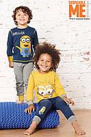 Пижама детская с принтом Миньона на 2- 6 лет, трикотаж, пижама миньон, два вида на выбор, детские пижамы