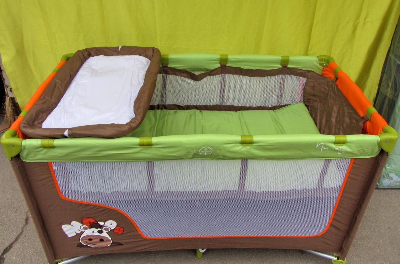 Манеж кровать с пеленальным столиком