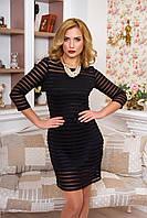 Стильное женское черное платье  Услада  42-44 размеры