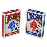 Карты для фокусов и покера Bicycle Jumbo index