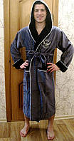 Халат мужской длинный с капюшоном Орел NS-7080 Nusa, XXL