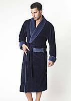 Халат мужской длинный  NS-1140-1 Nusa синий