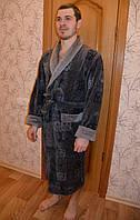 Халат мужской длинный без капюшона NS-2010 Nusa серый