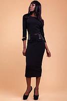 Женское платье Ненси баска кожа по бокам