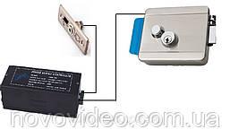 Комплект электромеханического замка с блоком питания и кнопкой выхода