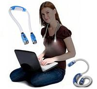 Светодиодная подсветка на шею  HUGLight гибкий светильник для чтения на батарейках, фото 1