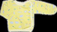 Распашонка для новорожденного на кнопках сбоку, цветная, байковая, р. 56, ТМ Алекс 2 мес. \ 56 см. Желтый
