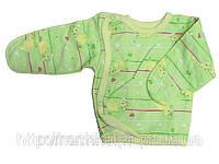 Распашонка для новорожденного на кнопках сбоку, цветная, байковая, р. 56, ТМ Алекс 2 мес. \ 56 см. Зеленый