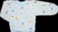 Распашонка для новорожденного на кнопках сбоку, цветная, байковая, р. 56, ТМ Алекс 2 мес. \ 56 см. Голубой