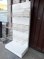 Торговый стеллаж б/у, стеллаж хлебный б.у, фото 1