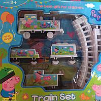 Железная дорога на батарейках Свинка Пеппа игровая площадка для детей 3+