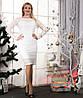 Женское белое гипюровое платье  (46-60) 8084, фото 2