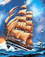 Картины по номерам 40×50 см. Парусник Америго Веспуччи, фото 1