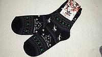 Теплые женские махровые носки с зимним рисунком, р-р 23-25, 20
