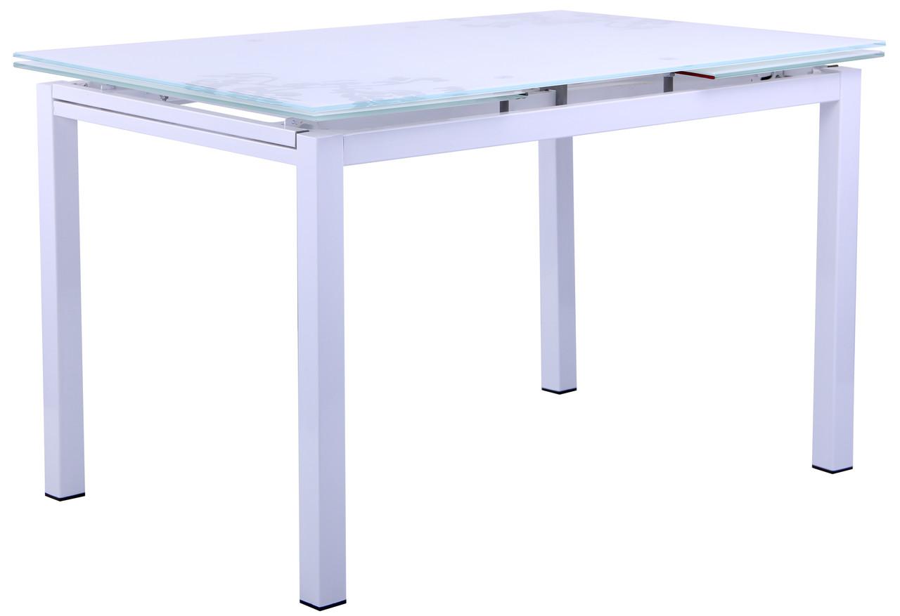 Стол Мишель B179-34 2000/1200*800*770 База белый/Стекло белый с узором, TM AMF