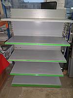 Стеллаж металлический торговый, пристенные стеллажи б у, торговые стеллажи б у., фото 1