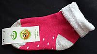 Яркие махровые носки для девочки малинового цвета, р-р 3-4 года, 20