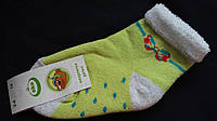 Махровые носки для девочки нежно салатового цвета, р-р 3-4 года, 20