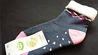 Махровые носки для девочки темно-серые, р-р 5-6 лет, 20