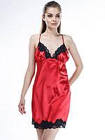 Сорочка шелковая Serenade (Серенада) 482 Красно-черный