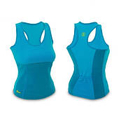 Майка женская для фитнеса синяя Hot Shapers