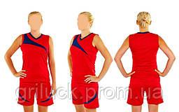 Баскетбольная форма на команду двусторонняя женская красная