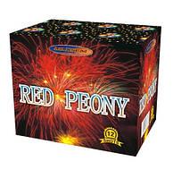 Салют Red Peony 12 выстрелов