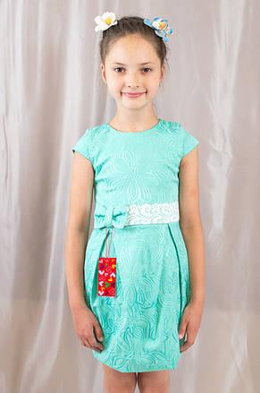 Детское оригинальное, стильное праздничное жаккардовое платье., фото 2