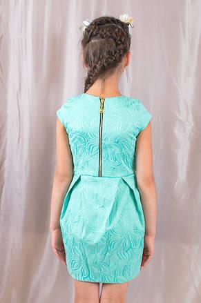 Детское оригинальное, стильное праздничное жаккардовое платье., фото 3