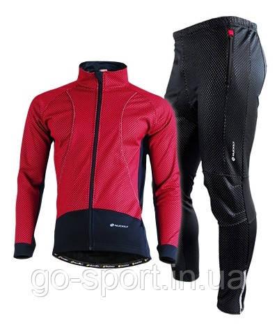 Велокостюм Nuckily Red, ветрозащитный и водоотталкивающий