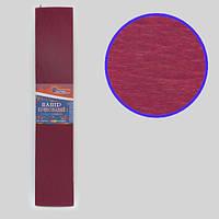 Креп-бумага 100%, бордовый 50*200см, 20г/м2