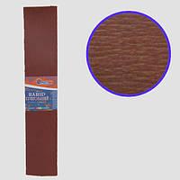 Креп-бумага 100%, коричневый 50*200см, 20г/м2