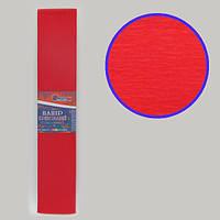 Креп-бумага 100%, красный 50*200см, 20г/м2